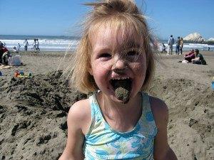 eating sand